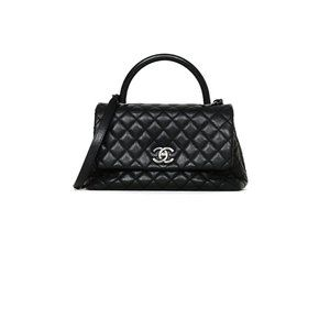 Chanel Caviar Leather Small Coco Handle Flap Bag